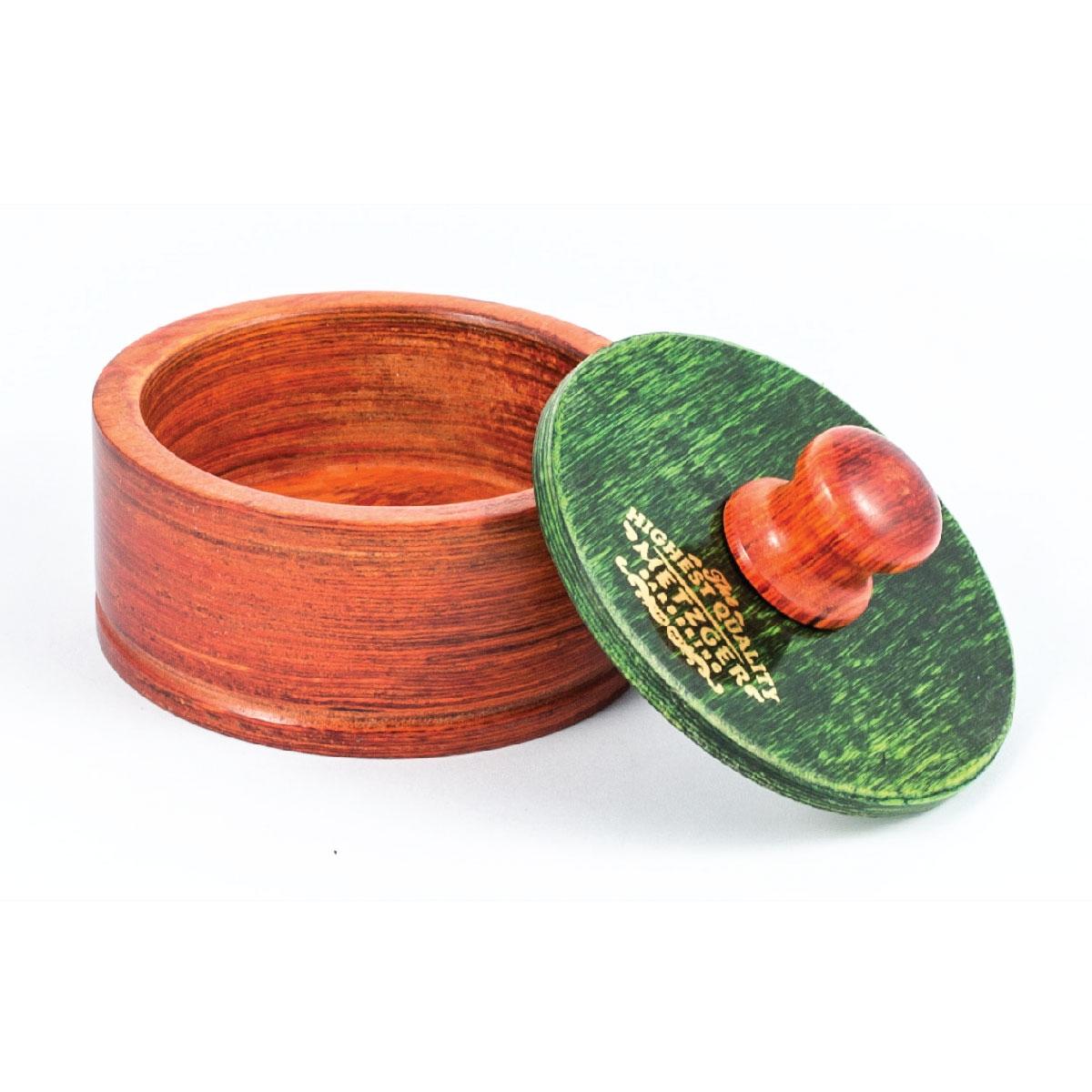 Metzger Чаша Rosewood для Бритья Деревянная с Зеленой Крышкой