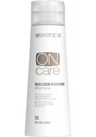 Selective Professional Золотистый шампунь для натуральных или окрашенных волос теплых светлых тонов, 250 мл c ehko keratin серебристый шампунь для натуральных и окрашенных светлых волос 250 мл