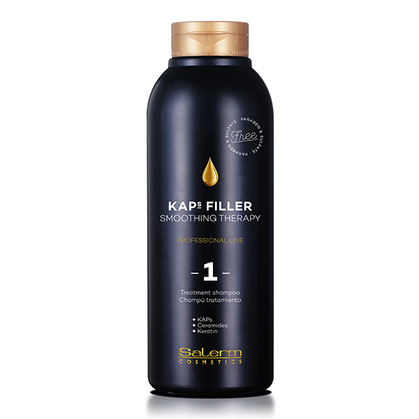 Salerm Cosmetics Шампунь-Уход Kaps Filler Treatment Shampoo, 500 мл