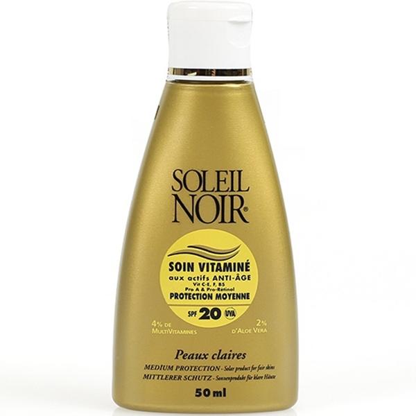 Soleil Noir Крем Антивозрастной Витаминизированный Солнцезащитный SPF 20 Средняя Степень Защиты Soin Vitamine, 50 мл минеральный солнцезащитный крем spf 50
