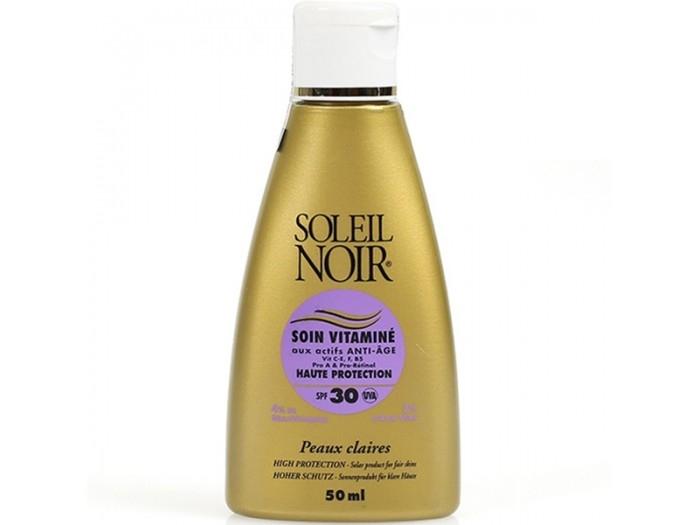 Soleil Noir Крем Антивозрастной Витаминизированный Солнцезащитный SPF 30 Высокая Степень Защиты Soin Vitamine, 50 мл цена 2017