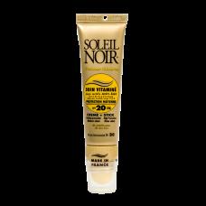 Soleil Noir Крем для Лица Soin Vitamine SPF 20 и Бальзам для Губ Stick SPF 30 Средняя Степень Защиты, 20+2 мл soleil noir крем антивозрастной витаминизированный солнцезащитный spf 20 средняя степень защиты soin vitamine 50 мл