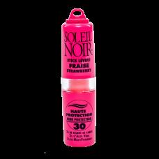 Soleil Noir Бальзам для Губ со Вкусом Клубники SPF 30 Высокая Степень Защиты, 4г