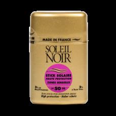 Soleil Noir Солнцезащитный Стик для Чувствительных Зон SPF 50/ Высокая Степень Защиты, 10г soleil noir крем антивозрастной витаминизированный солнцезащитный spf 20 средняя степень защиты soin vitamine 50 мл