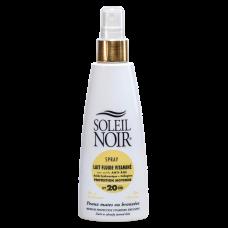 Soleil Noir Солнцезащитное Молочко-Спрей SPF 20 Средняя Степень Защиты, 150 мл