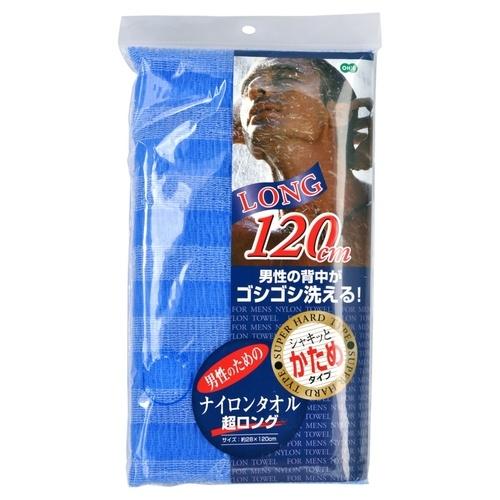 Ohe Мочалка Nylon Towel Super Long для Тела Сверхжесткая Синяя размер 28Х120 см, 1 шт ohe мочалка awayuki для тела сверхжесткая удлиненная синяя 28х100 см 1 шт