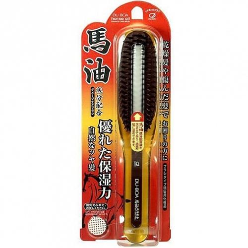 Ikemoto Щетка Du-Boa Horse Oil Damage Care Brush для Поврежденных Волос с Лошадиным Маслом, 1 шт