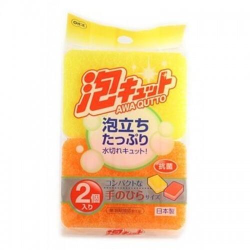 ohe corporation kitchen sponge абсорбирующая губка для кухни из целлюлозы 2 шт 18х20 см Ohe Губка для Мытья Посуды Трехслойная Верхний Слой Средней Жесткости, 2 шт