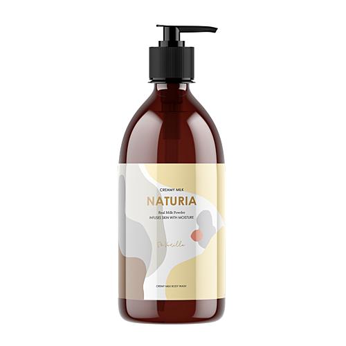 Naturia Гель Creamy Milk Body Wash-So Vanilla для Душа Ваниль, 750 мл tropiclean fresh breath gel vanilla mint гель для собак для чистки зубов ваниль и мята 59 мл