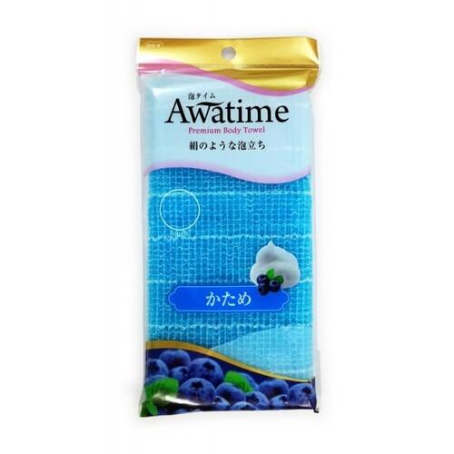 Ohe Мочалка Awa Time Body Towel Katame для Тела Жесткая Голубая, 35г