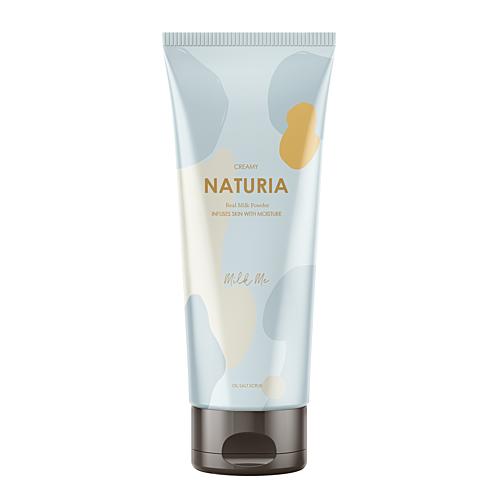 Naturia Скраб Creamy Oil Salt Scrub Milk Me для Тела Молочный, 250г naturia скраб для тела creamy oil ваниль 250 мл