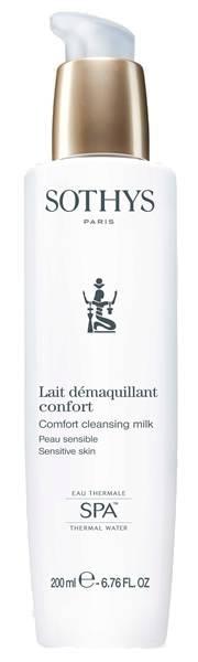 Sothys Молочко Comfort Cleansing Milk Очищающее для Чувствительной Кожи с Экстрактом Хлопка и Термальной Водой, 200 мл термальной водой
