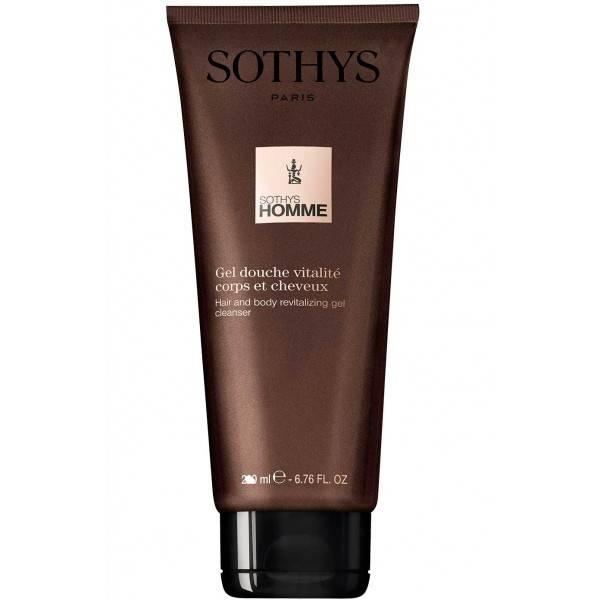 Sothys Гель-Шампунь Homme Hair And Body Revitalizing Gel Cleanser Ревитализирующий для Волос и Тела, 250 мл
