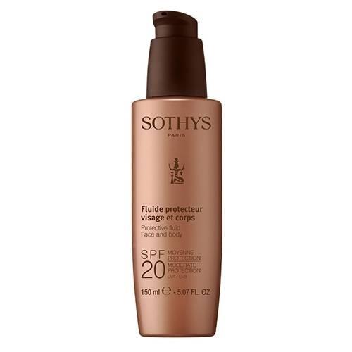 цена на Sothys Молочко Protective Fluid Face And Body SPF20 Moderate Protection UVA/UVB с SPF20 для Лица и Тела, 150 мл