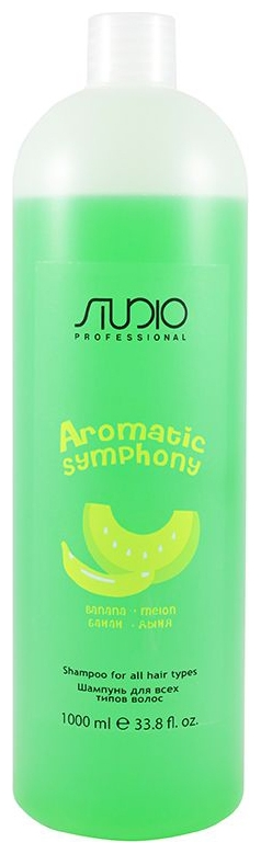 Kapous Studio Professional Шампунь для Всех Типов Волос Aromatic Symphony Банан и Дыня, 1000 мл бальзам для всех типов волос kapous aromatic symphony черная смородина 1000 мл