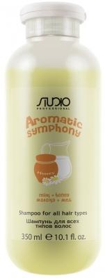Kapous Studio Professional Шампунь для Всех Типов Волос Aromatic Symphony Молоко и Мёд, 350 мл