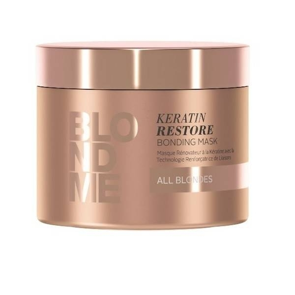 Schwarzkopf Бондинг-Маска Кератиновое Восстановление BlondMe Keratin Restore Bonding Mask, 200 мл