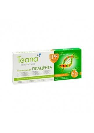 Teana Растительная Плацента, 10 амп * 2 мл teana энергия молодости 10 амп 2 мл