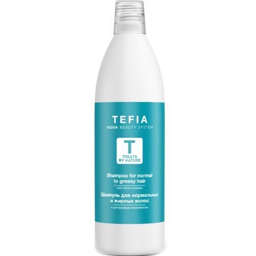 Tefia Шампунь для Нормальных и Жирных Волос, 1000 мл шампунь продлевающий чистоту волос