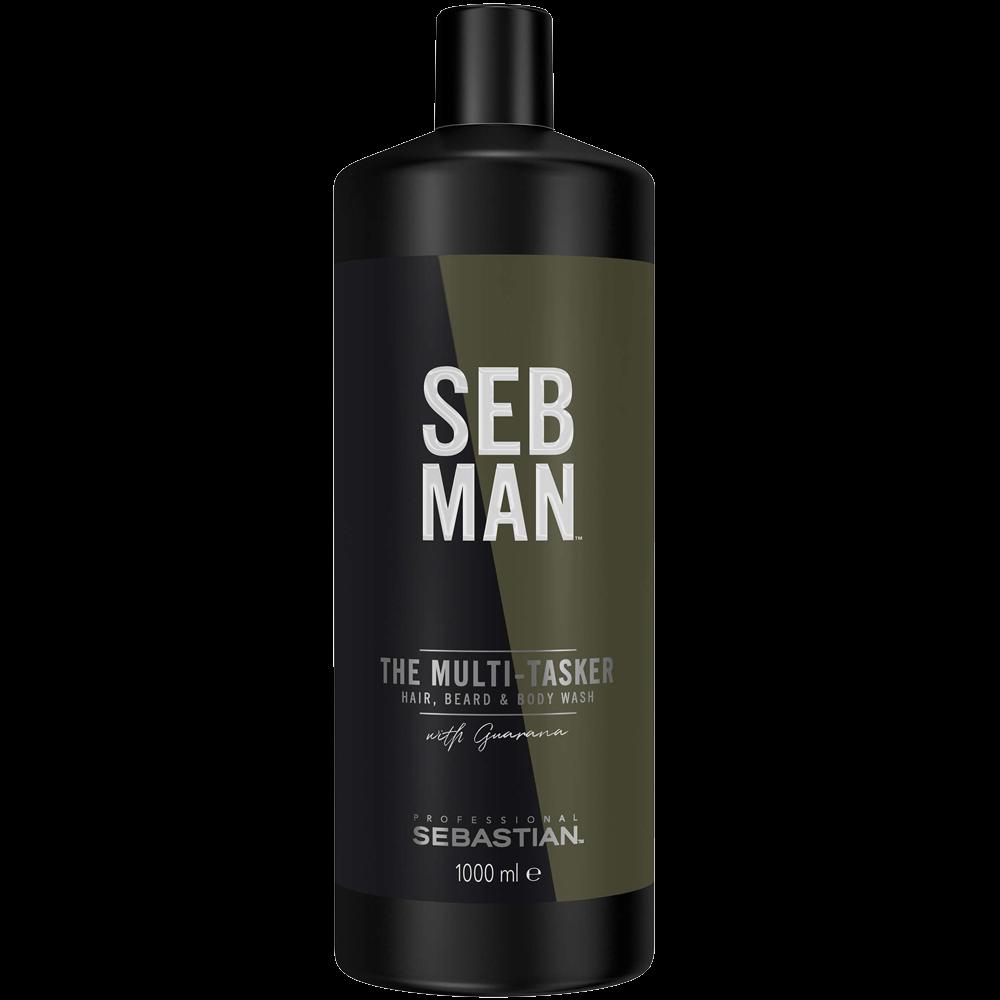 Sebastian Men Шампунь 3 в 1 для Ухода за Волосами, Бородой и Телом The Multitasker, 1000 мл