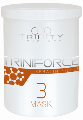 Trinity Hair Care Маска Triniforce для Волос Наполнитель Кератина, 1000 мл