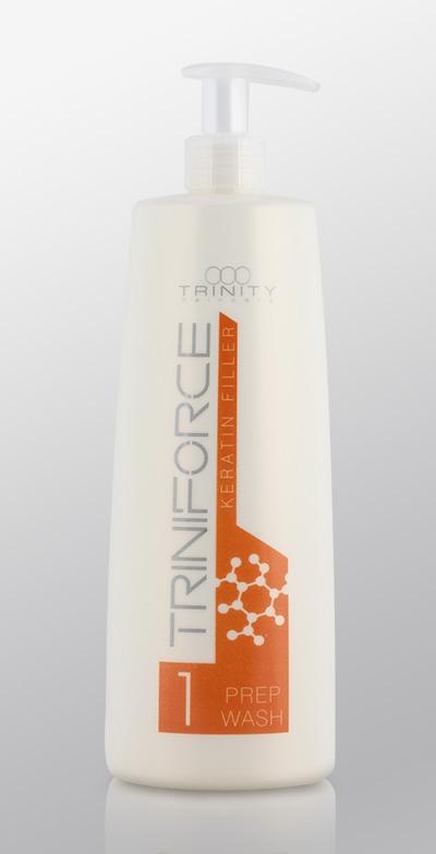 Trinity Hair Care Шампунь для Волос Очищающий Наполнитель Кератина, 1000 мл