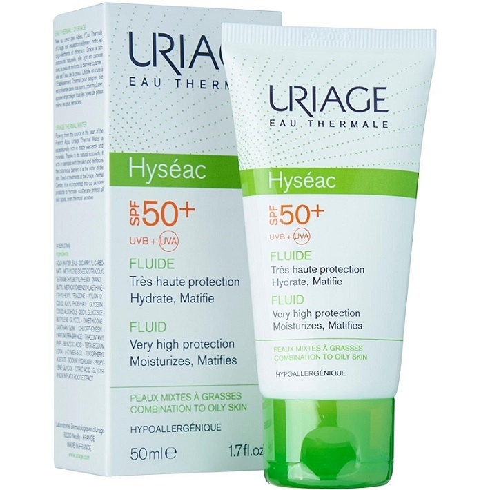 Uriage Эмульсия Hyseac Солнцезащитная SPF50 Исеак, 50 мл hyseac restructurant creme uriage