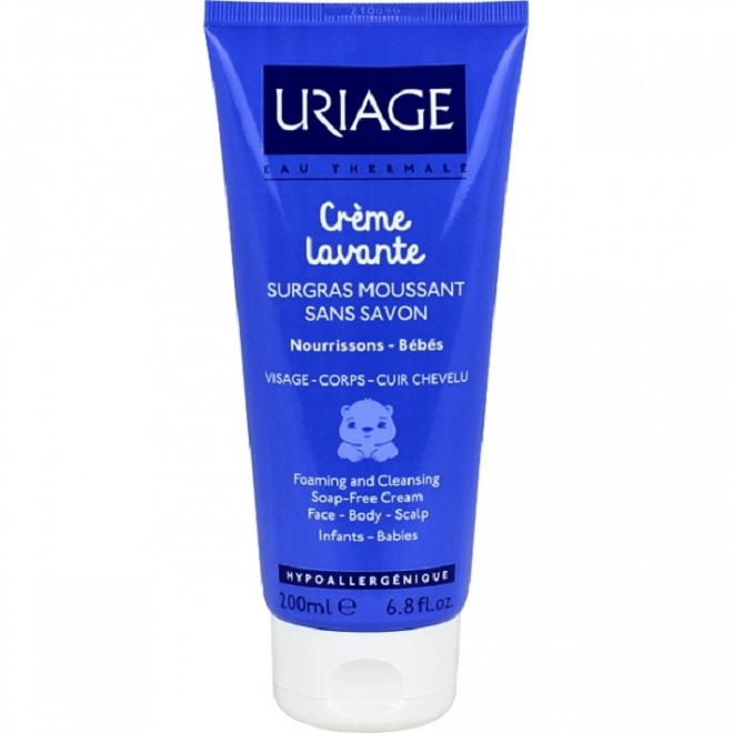 Uriage Масло Creame Lavante Очищающее Пенящееся Тюбик, 200 мл масло для лица и тела очищающее a derma exomega 200 мл смягчающее
