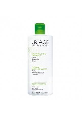Uriage Очищающая Мицеллярная Вода для Жирной и Комбинированной Кожи, 500 мл мицеллярная вода очищающая для чувствительной кожи 500 мл uriage гигиена uriage