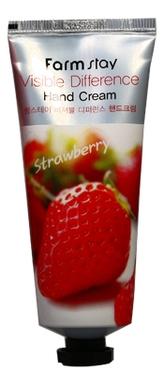 FarmStay Крем для Рук с Экстрактом Клубники Visible Difference Hand Cream Strawberry, 100г