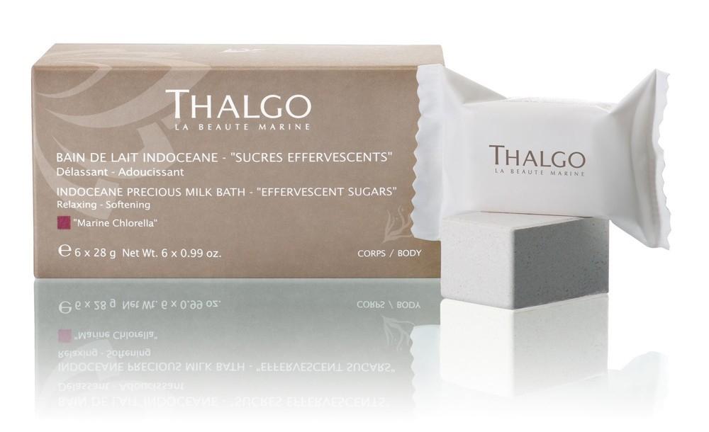 Thalgo Индосеан Молочная Ванна Шипучий Сахарный Порошок Indoceane Precious Milk Bath, 6*28г