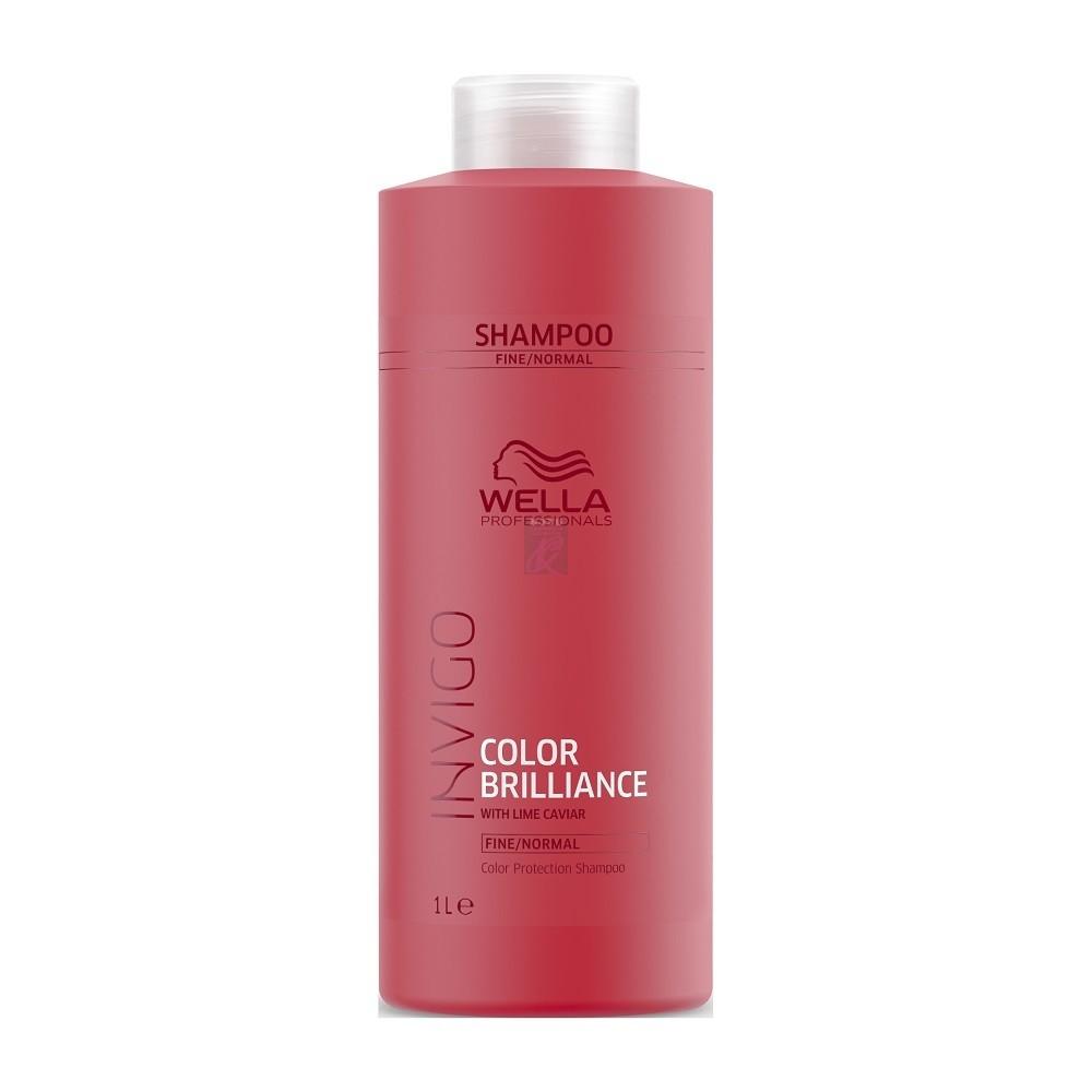 Wella Шампунь Invigo Brilliance для Окрашенных Нормальных и Тонких Волос, 1000 мл