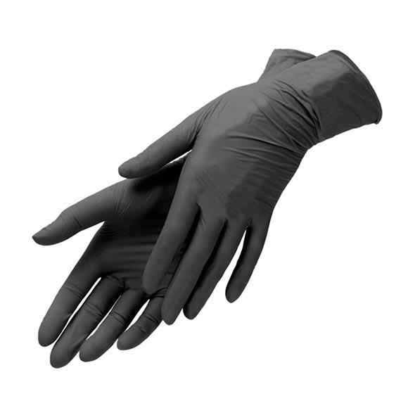 Wella Перчатки Черные без Талька, Размер М (100 шт/упк)