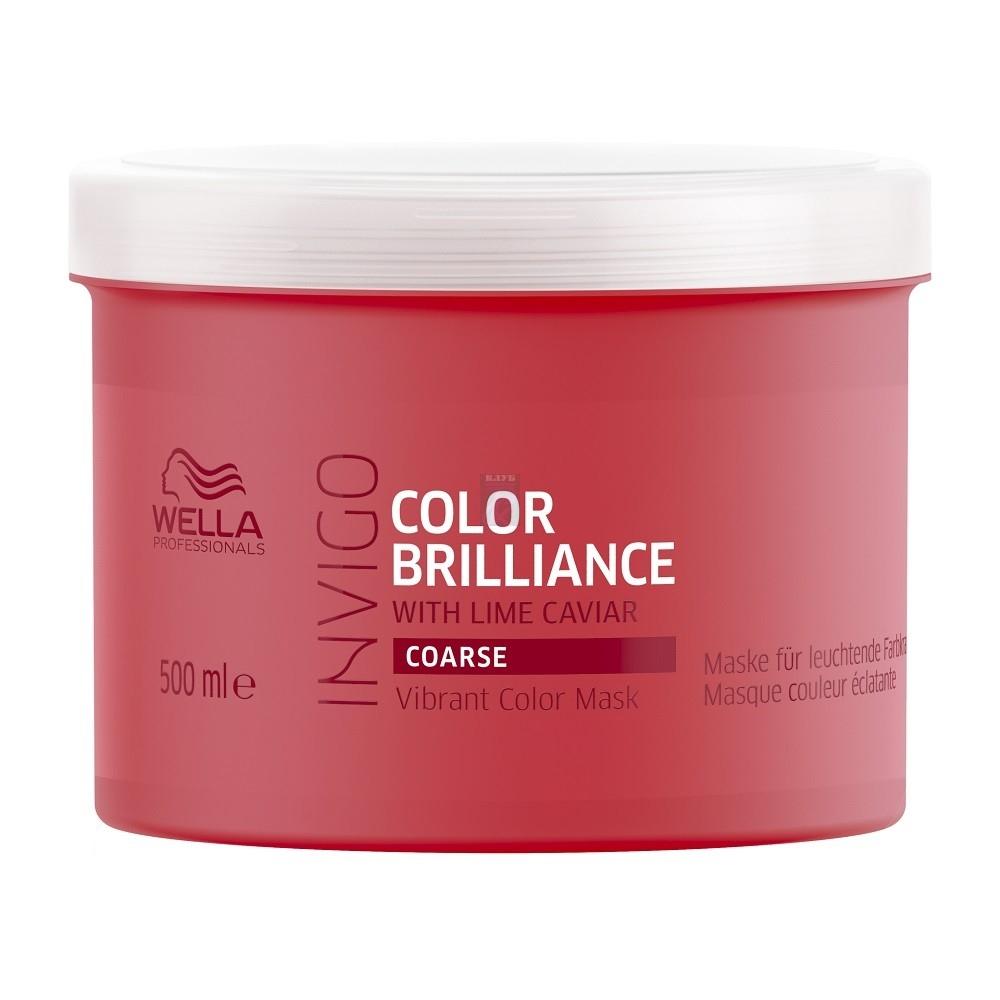 Wella Маска Invigo Brilliance для Окрашенных Жестких Волос, 500 мл wella бальзам ополаскиватель colour для окрашенных волос 500 мл