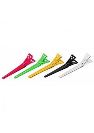 Y.S.PARK Зажимы 70 мм Алюминиевые Clip M assort 5 цветов 10 шт